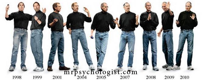 استیو جابز برای سالهای پیراهن تیره و شلوار جین پوشید